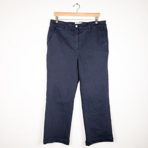 Everlane Navy Straight Cropped High Rise Pants